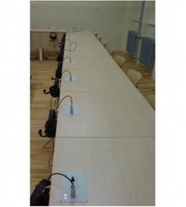 Analog Domino - audio jednotka pre 2 žiakov, zapustená do lavice